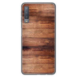 Funda Gel Tpu para Samsung Galaxy A7 (2018) diseño Madera 02 Dibujos