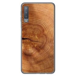Funda Gel Tpu para Samsung Galaxy A7 (2018) diseño Madera 04 Dibujos