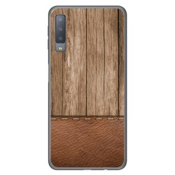 Funda Gel Tpu para Samsung Galaxy A7 (2018) diseño Madera 09 Dibujos