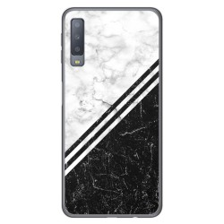 Funda Gel Tpu para Samsung Galaxy A7 (2018) diseño Mármol 01 Dibujos