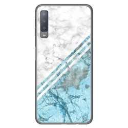 Funda Gel Tpu para Samsung Galaxy A7 (2018) diseño Mármol 02 Dibujos