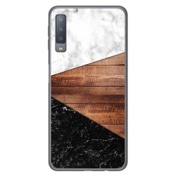 Funda Gel Tpu para Samsung Galaxy A7 (2018) diseño Mármol 11 Dibujos