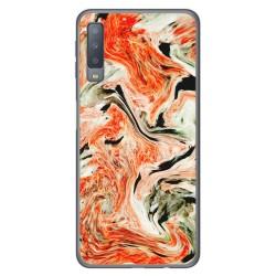 Funda Gel Tpu para Samsung Galaxy A7 (2018) diseño Mármol 12 Dibujos