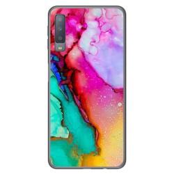 Funda Gel Tpu para Samsung Galaxy A7 (2018) diseño Mármol 15 Dibujos