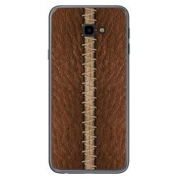 Funda Gel Tpu para Samsung Galaxy J4+ Plus diseño Cuero 01 Dibujos