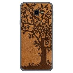 Funda Gel Tpu para Samsung Galaxy J4+ Plus diseño Cuero 03 Dibujos