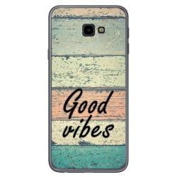 Funda Gel Tpu para Samsung Galaxy J4+ Plus diseño Madera 01 Dibujos