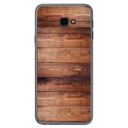 Funda Gel Tpu para Samsung Galaxy J4+ Plus diseño Madera 02 Dibujos