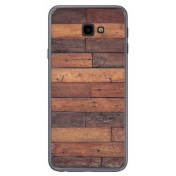 Funda Gel Tpu para Samsung Galaxy J4+ Plus diseño Madera 03 Dibujos