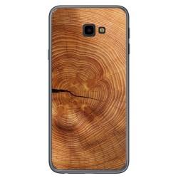 Funda Gel Tpu para Samsung Galaxy J4+ Plus diseño Madera 04 Dibujos