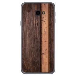 Funda Gel Tpu para Samsung Galaxy J4+ Plus diseño Madera 05 Dibujos
