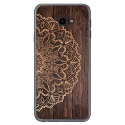 Funda Gel Tpu para Samsung Galaxy J4+ Plus diseño Madera 06 Dibujos