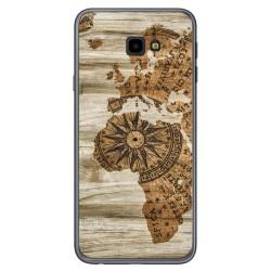 Funda Gel Tpu para Samsung Galaxy J4+ Plus diseño Madera 07 Dibujos