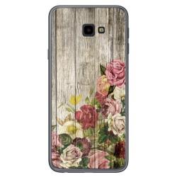 Funda Gel Tpu para Samsung Galaxy J4+ Plus diseño Madera 08 Dibujos