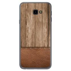 Funda Gel Tpu para Samsung Galaxy J4+ Plus diseño Madera 09 Dibujos