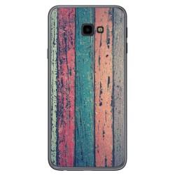 Funda Gel Tpu para Samsung Galaxy J4+ Plus diseño Madera 10 Dibujos