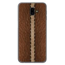 Funda Gel Tpu para Samsung Galaxy J6+ Plus diseño Cuero 01 Dibujos