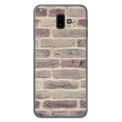 Funda Gel Tpu para Samsung Galaxy J6+ Plus diseño Ladrillo 01 Dibujos