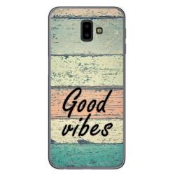 Funda Gel Tpu para Samsung Galaxy J6+ Plus diseño Madera 01 Dibujos