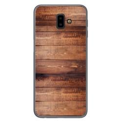 Funda Gel Tpu para Samsung Galaxy J6+ Plus diseño Madera 02 Dibujos