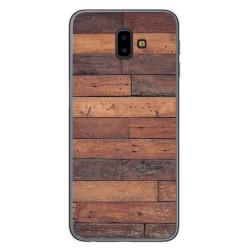 Funda Gel Tpu para Samsung Galaxy J6+ Plus diseño Madera 03 Dibujos