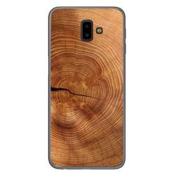 Funda Gel Tpu para Samsung Galaxy J6+ Plus diseño Madera 04 Dibujos