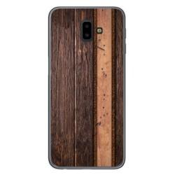 Funda Gel Tpu para Samsung Galaxy J6+ Plus diseño Madera 05 Dibujos