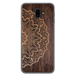 Funda Gel Tpu para Samsung Galaxy J6+ Plus diseño Madera 06 Dibujos