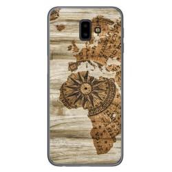 Funda Gel Tpu para Samsung Galaxy J6+ Plus diseño Madera 07 Dibujos