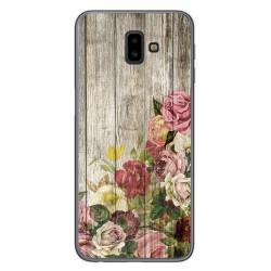 Funda Gel Tpu para Samsung Galaxy J6+ Plus diseño Madera 08 Dibujos