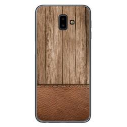 Funda Gel Tpu para Samsung Galaxy J6+ Plus diseño Madera 09 Dibujos