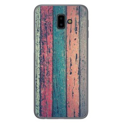 Funda Gel Tpu para Samsung Galaxy J6+ Plus diseño Madera 10 Dibujos
