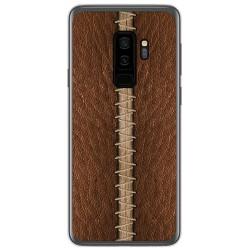 Funda Gel Tpu para Samsung Galaxy S9 Plus diseño Cuero 01 Dibujos