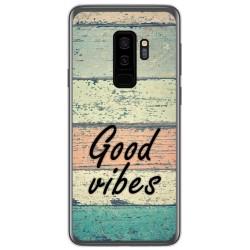 Funda Gel Tpu para Samsung Galaxy S9 Plus diseño Madera 01 Dibujos