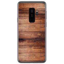 Funda Gel Tpu para Samsung Galaxy S9 Plus diseño Madera 02 Dibujos