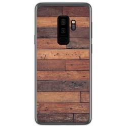 Funda Gel Tpu para Samsung Galaxy S9 Plus diseño Madera 03 Dibujos