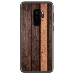 Funda Gel Tpu para Samsung Galaxy S9 Plus diseño Madera 05 Dibujos