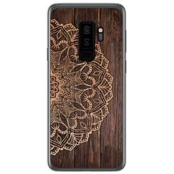 Funda Gel Tpu para Samsung Galaxy S9 Plus diseño Madera 06 Dibujos