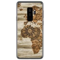 Funda Gel Tpu para Samsung Galaxy S9 Plus diseño Madera 07 Dibujos