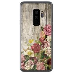 Funda Gel Tpu para Samsung Galaxy S9 Plus diseño Madera 08 Dibujos