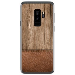 Funda Gel Tpu para Samsung Galaxy S9 Plus diseño Madera 09 Dibujos