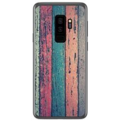 Funda Gel Tpu para Samsung Galaxy S9 Plus diseño Madera 10 Dibujos