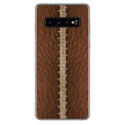 Funda Gel Tpu para Samsung Galaxy S10 diseño Cuero 01 Dibujos
