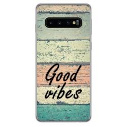 Funda Gel Tpu para Samsung Galaxy S10 diseño Madera 01 Dibujos