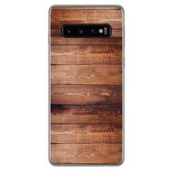 Funda Gel Tpu para Samsung Galaxy S10 diseño Madera 02 Dibujos