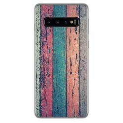 Funda Gel Tpu para Samsung Galaxy S10 diseño Madera 10 Dibujos