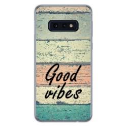 Funda Gel Tpu para Samsung Galaxy S10e diseño Madera 01 Dibujos
