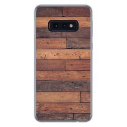 Funda Gel Tpu para Samsung Galaxy S10e diseño Madera 03 Dibujos
