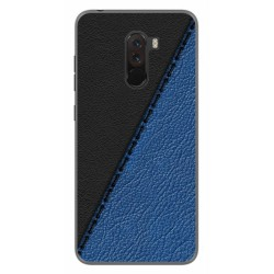 Funda Gel Tpu para Xiaomi Pocophone F1 diseño Cuero 02 Dibujos