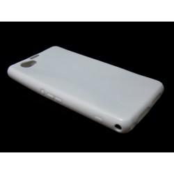 Funda Gel Tpu Sony Xperia Z1 Compact X Line Color Blanca